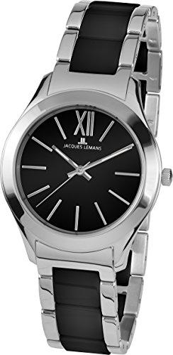 Jacques Lemans Damen Analog Quarz Uhr mit Edelstahl Armband 1-1796A