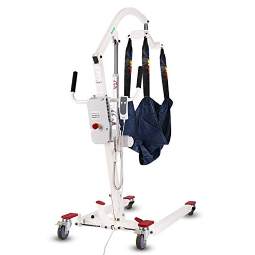 41MFXN3uM L - YXP Grúa Eléctrica para Pacientes con Cable de alimentación de 3 m, Capacidad de Peso de 450 LB, con Eslinga de Malla Completa Mediana