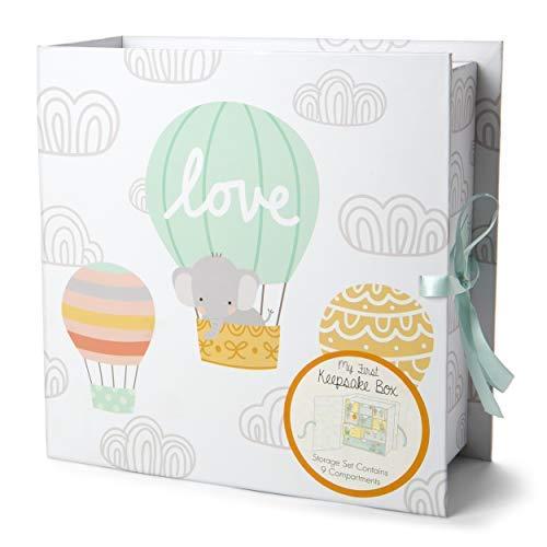 Tri-Coastal Design - Caja de Recuerdos - Una Caja para Recuerdos con 10 Cajones - Ideal como Regalo para Recién Nacido o para Usar como Joyero sobre el Escritorio o en la Mesilla de Noche - Multicolor