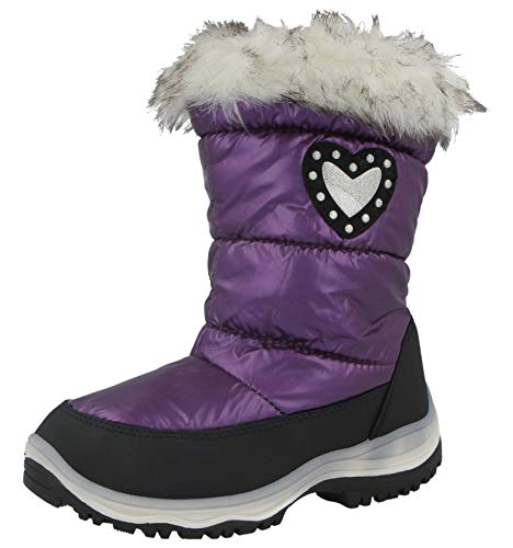 New Boys Girls Kids Snow Boots Waterproof Thermal Wellingtons Fur Winter