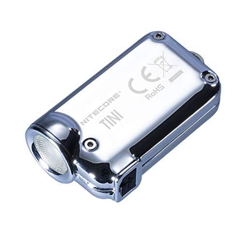 Nitecore TINI SS Glacier-380Lm-Lg: 43mm-LRG: 11, 5mm Torche Porte clé Mixte Adulte, Glacier