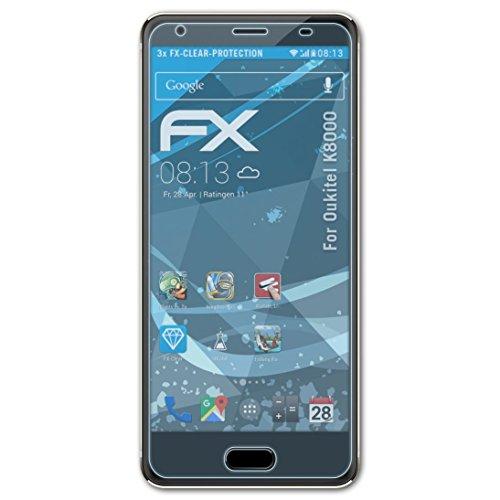 atFolix Schutzfolie kompatibel mit Oukitel K8000 Folie, ultraklare FX Bildschirmschutzfolie (3X)