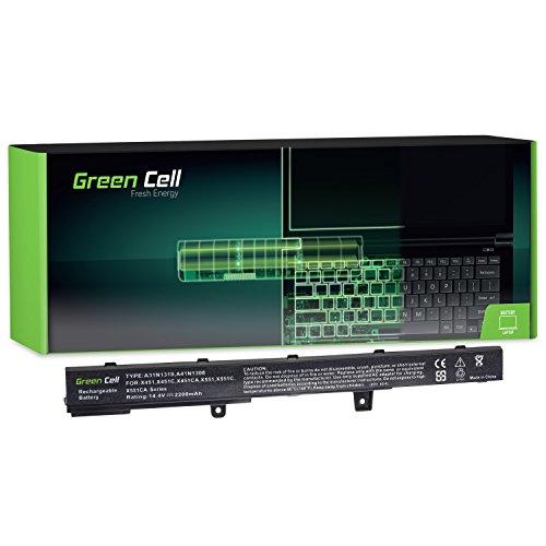 Green Cell® Standard Serie Laptop Akku für Asus R512M (4 Zellen 2200mAh 14.8V Schwarz)