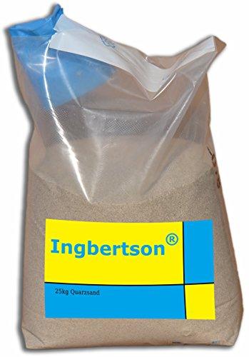 Ingbertson 25kg Sack Quarzsand 0,71 bis 1,25 mm für Poolfilter