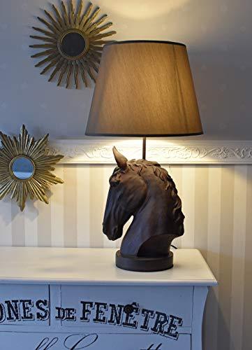 Tischlampe Pferd Tischleuchte Pferdekopf Nachttischlampe Lampe Leuchte 66cm Palazzo Exklusiv