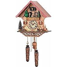 Orologio a cucù al quarzo Casa tipo Foresta Nera con musica, ballerini che si girano TU 474 QMT HZZG