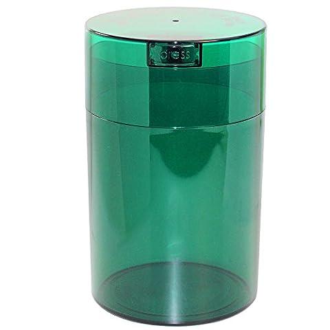Coffeevac 0,5kilogram–L'ultime Emballé sous vide boite à café, Plastique, Green Tint Cap & Body, 1.85-Liter/1.6-Quart