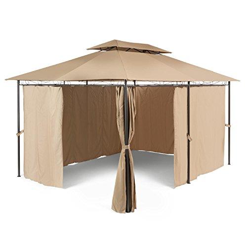 Blumfeldt Grandezza • Pavillon • Partyzelt • Gartenpavillon mit Seitenwänden • 3 x 4 m •...