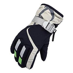 Boboder Kinder Ski Handschuhe Winter Warme wasserdichte Schneehandschuh für Skifahren Radfahren Outdoor Sports Unisex Kinder