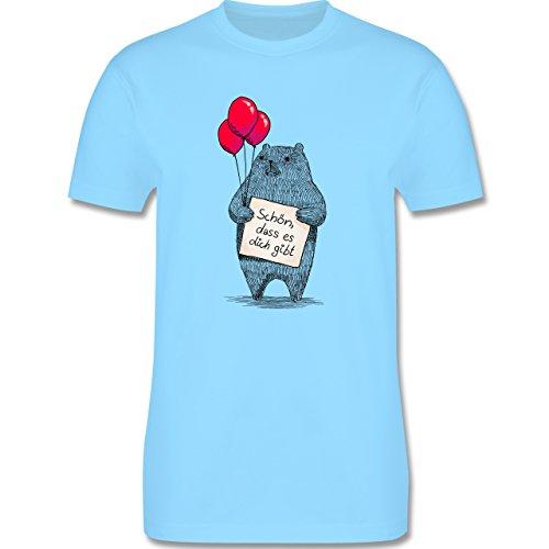 Statement Shirts - Schön, dass es dich gibt - Herren Premium T-Shirt Hellblau