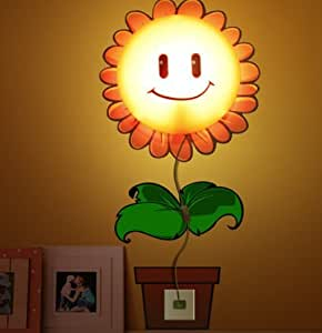 kreative 3d wallpaper wandleuchte niedlichen cartoon sunflower kinderzimmer schlafzimmer. Black Bedroom Furniture Sets. Home Design Ideas