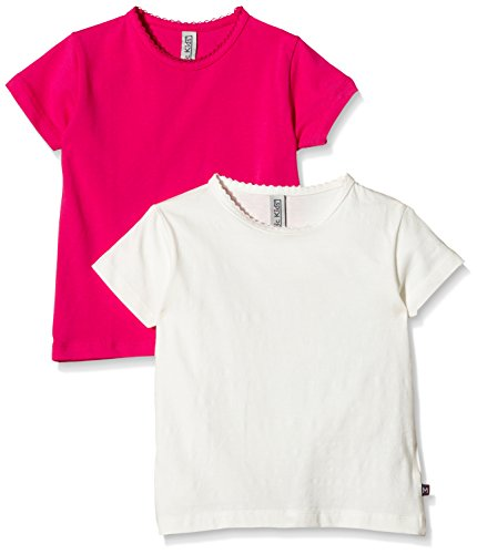 Magic Kids Mädchen T-Shirt,2er Pack, Gr. 122, Mehrfarbig (Dark Pink 577)