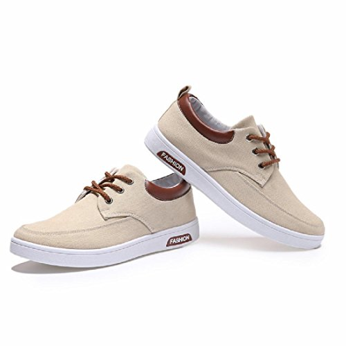 Herren Freizeitschuhe Mode Atmungsaktiv Tragbar Lauf Flache Schuhe Khaki