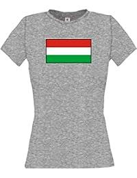 ShirtInStyle Lady-Shirt Ungarn Hungary Ländershirt mit Wunschnamen und Nummer
