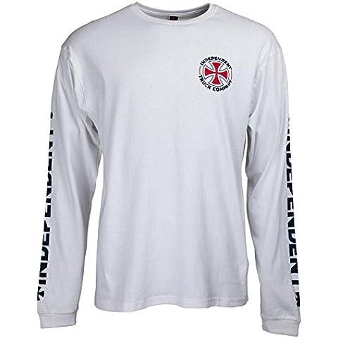 Camiseta manga larga Independent – Itc Cross blanco talla: XL (X-Large)