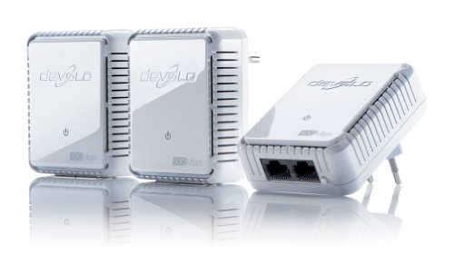 devolo dLAN 500 duo Network Kit Powerline 3x PowerLAN-Adapter, 500 Mbit/s, Internet aus der Steckdose, 2 integrierte LAN Ports