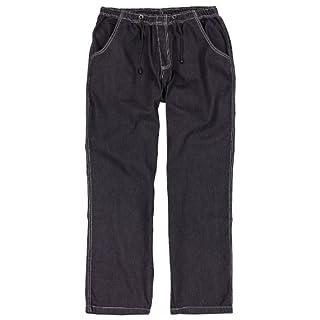 Abraxas Schwarze Jogging-Jeans Übergröße 12XL, Größe:5XL