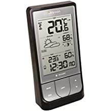 Oregon Scientific BAR-218-HG - Estación meteorológica con Bluetooth, compatible con App Weather & Home, color gris