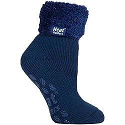 Heat Holders 1 paire chaussettes antidérapantes de lit femme duveteux hiver en 8 couleurs 37-42 eur (HHL09)