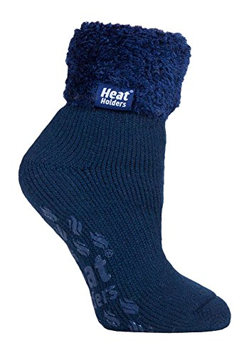 Heat Holders 1 Paar Bettsocken Damen Stoppersocken abs antirutsch kuschelsocken socken in 8 farbig 37-42 eur (HHL09)