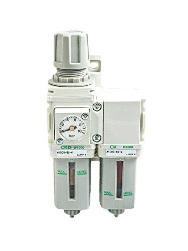 CKD M,W,B 1000 Filtersatz Luftfilter Wasserabscheider Manometer Öler 1/4