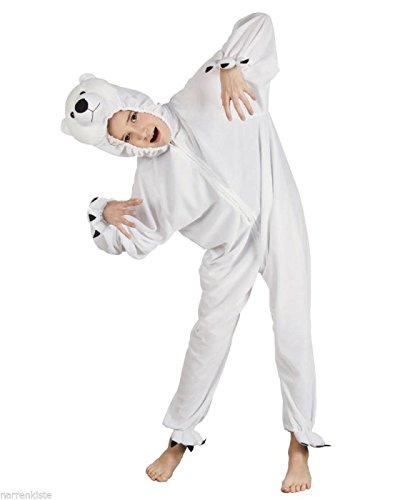 B88026-116 Eisbär Kostüm Kinder Gr.bis max. 116 cm (Kinder Kostüme Eisbär)