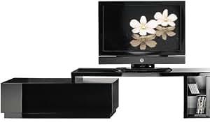 Meuble TV / Hifi LCD Plasma pivotant laque noire