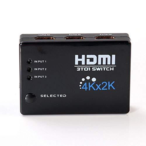 XZANTE 4K x 2K 3Zoll 1Out Für Hdmi Switch Hub Splitter Umschalter Adapter Hd Für HDTV + Ir Fernbedienung