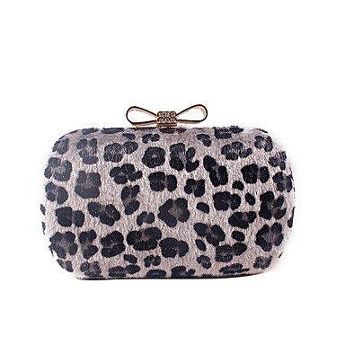 pwne L. In West Woman Fashion Luxus High-Grade Bowknot Leopard Abend Tasche Gray
