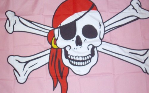 ORGULLO GAY Pirata Bandera 12.7cmx7.6cm