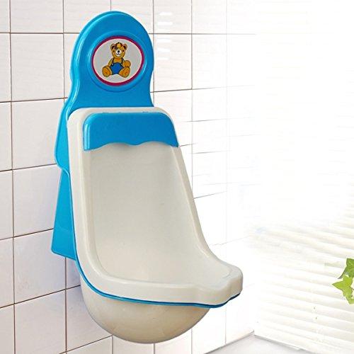 Tinksky Nouveauté Kids enfant enfant en bas âge pipi pot formateur formation urinoir WC pour les petits garçons (bleu + blanc)