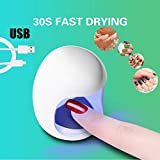 MMLC Mini USB UV Nagel Gel Aushärtungslampe Licht Nagelgelpoliermittel Trockner Nail art Maschine Nail art Maschine Nagel Kunst Werkzeug (Weiß)
