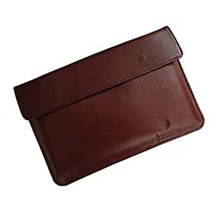 i-KitPit : Genuine Leather Pouch Case For Alcatel One Touch Tab 7 (BROWN)