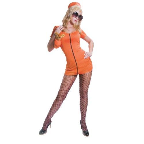 Kostüm Gefängnis Im Prinzessin - Dress Up America Erwachsene Sexy Orange Gefangenen Kostüm Set