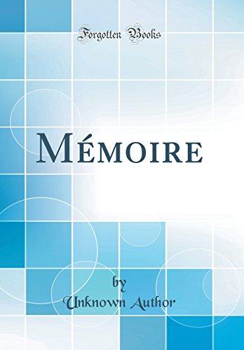 Mémoire (Classic Reprint)