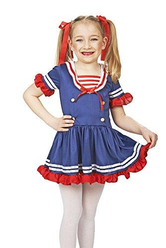 Kleine Matrosin Kostüm für Mädchen Gr. 140 - Tolles Sailor Girl Kostüm für Karneval oder Mottoparty