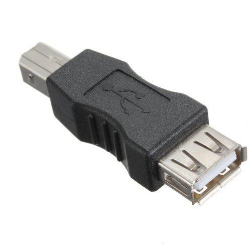 World of Data? USB A (weiblich) auf USB B (männlich) Adapter Converter Geschlecht (USB Typ A auf USB Typ B) (Weibliche Usb-adapter)