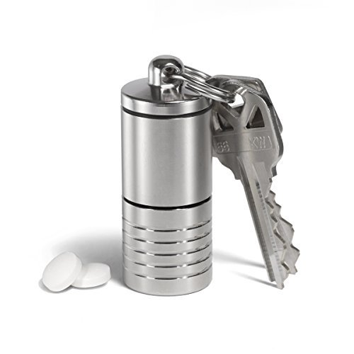 cielo-pill-holders-waterproof-dual-chamber-stainless-steel-keychain-pill-fob-made-in-usa