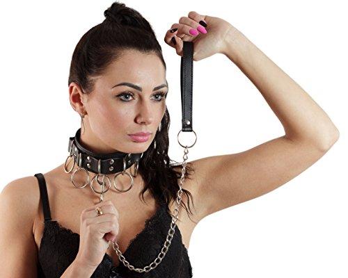 B14 SINNLICH BDSM Erotik - FETISCH - Halsband mit Leine - Sklave
