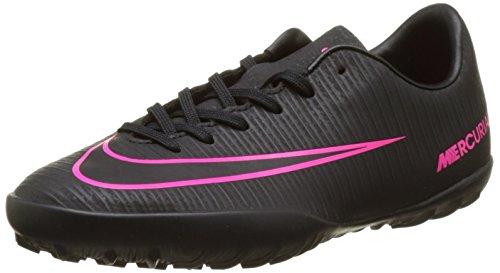 Nike Jr Mercurial Vapor Xi Tf, Scarpe da Calcio Unisex - Bambini, Multicolore (Black/Black/Pink Blast), EU