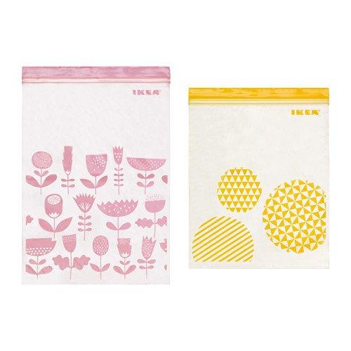 ☆2016NEW☆ IKEA ISTAD プラスチック袋 アソートカラー(ピンク&イエロー) 30ピース