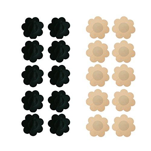 Value Buy Go Go Go 10 Paar Damen Blume Geformte Selbstklebende Aufkleber Brust Nippel Abdeckungen Pasties Einweg Invisible Tape