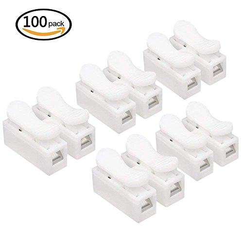 Kabelklemme für LED-Streifen, Schnellverbinder, 2 x CH2, 100 Stück