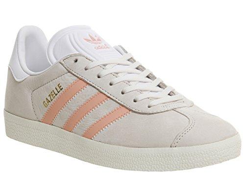 adidas Gazelle, Sneaker Donna Grigio (Chalk White/still Breeze/footwear White)