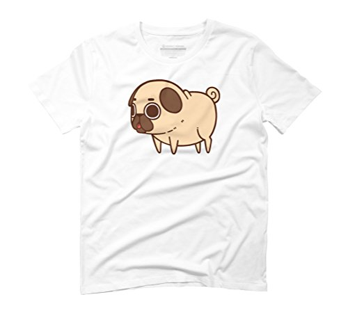 Puglie Pug Men's Graphic T-Shirt - Design By Humans White