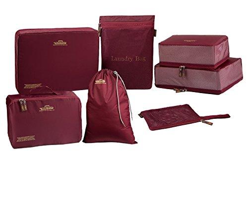 MotGlobal Lot de 7 Sacs D'emballage Organisateur de Sac de Rangement Bagage Indispensable pour Voyage