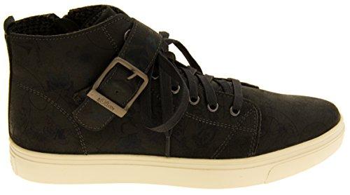 s.Oliver Damen-Leder mit hoher Sneaker Stiefeletten Schuhe Grau