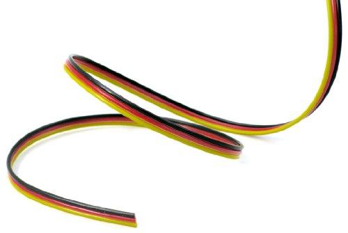 Jamara 98021 - Cable FUT. 3 x 0,14 mm2 10 m Sueltos Planos