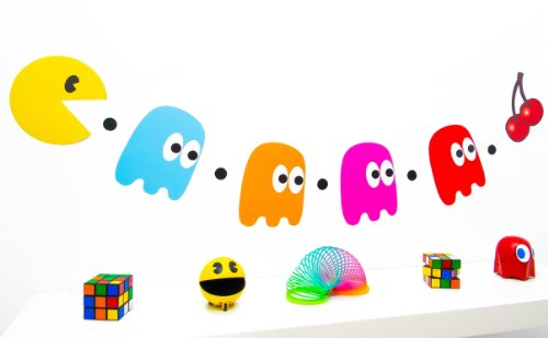 80s-party-decoration-pacman-and-ghosts-bunting
