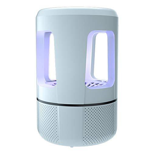FENGMM Mosquito Killer Lámpara Fotocatalizador Tipo de succión de energía USB Trampa de Insectos Control de plagas Bug Zapper Sin radiación Mosca Mosquito Killer Lámpara Hogar,White